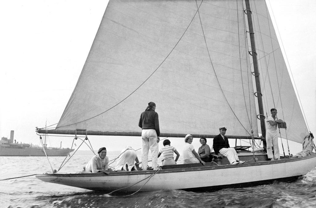 pierwszy jacht regatowy Olga
